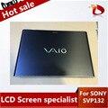 Pantalla LCD Con Panel Táctil de alta calidad Para Sony Vaio Pro 13 SVP13 SVP132 Mitad Superior Entera con Mate Protector película (negro)