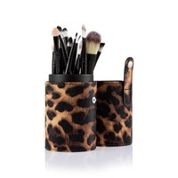 Professional Makeup Brushes Set Cosmetic Make Up Tools Powder Foundation Brush With Leopard Case Beauty Accessories