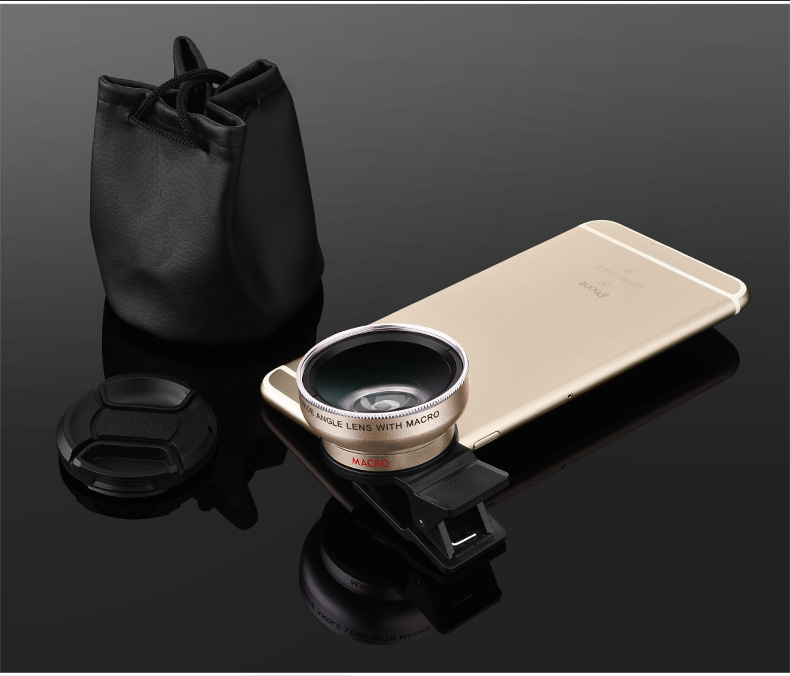 Universal Professional HD Camera Lens 0.45x Super Wide Angle Lens + Macro Lens for iPhone for huawei FOR Samsung Mobile Phone 9