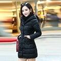 Новый 2016 Женщины пиджаки Пальто Мода Длинные Стройные Ватные Куртка Женская Высокое Качество Женщины Вниз Куртка Зимнее Пальто И Пиджаки мягкий