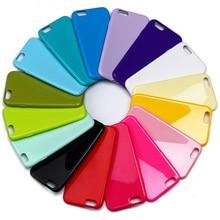 4S 5S 6 s plus caso capa capinha para iphone 6 6 s plus/5 5S/4 4S doces cores tpu capa de silicone para iphone 6 s coque suave Shell