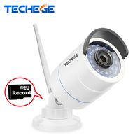 Techege 1280 720P WIFI IP Camera HD 1 0MP Wifi Camera Waterproof Night Vision Outdoor TF