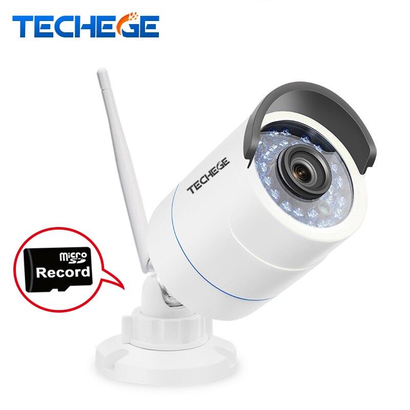 imágenes para Techege 1280*720 P Cámara IP WIFI HD de 1.0MP wifi Ranura Para Tarjeta TF CCTV cámara de Visión Nocturna impermeable Al Aire Libre cámara de Detección de Movimiento