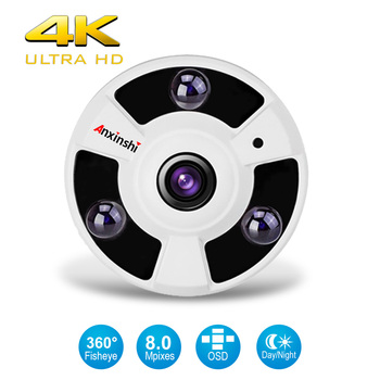 4K Panoramic 360 Degree Fisheye 4 in 1 Analog High Definition Surveillance Camera CCTV Camera Security indoor IR 8MP AHD camera