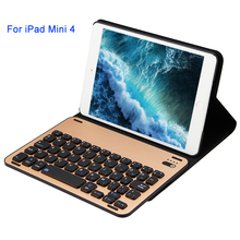 Loufu Bluetooth Keyboard For iPad Mini 4 Case Keyboard Slim Leather Case Cover With Aluminium Keyboard For iPad 7.9 Tablet