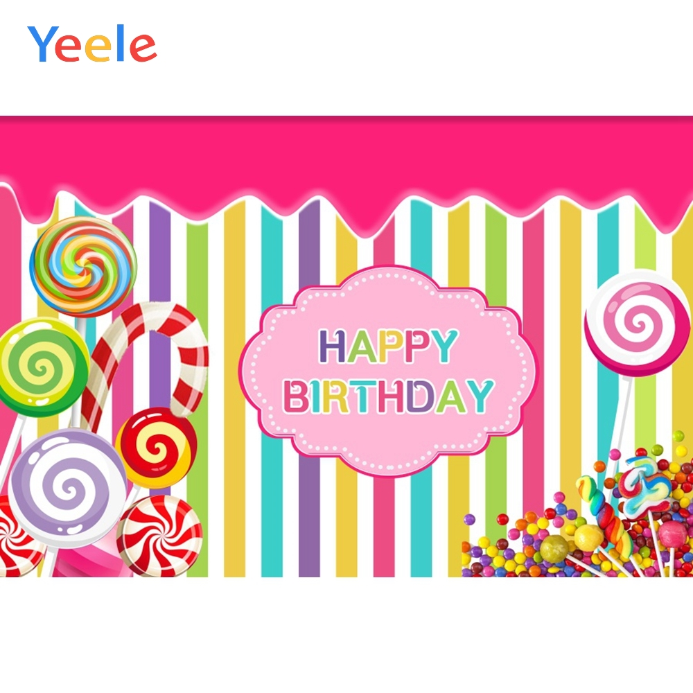 Yeele Candy Lollipop Stripe Colors Cloud Pattern Baby Photography Backgrounds Customized Photographic Backdrops for Photo Studio in Background from Consumer Electronics