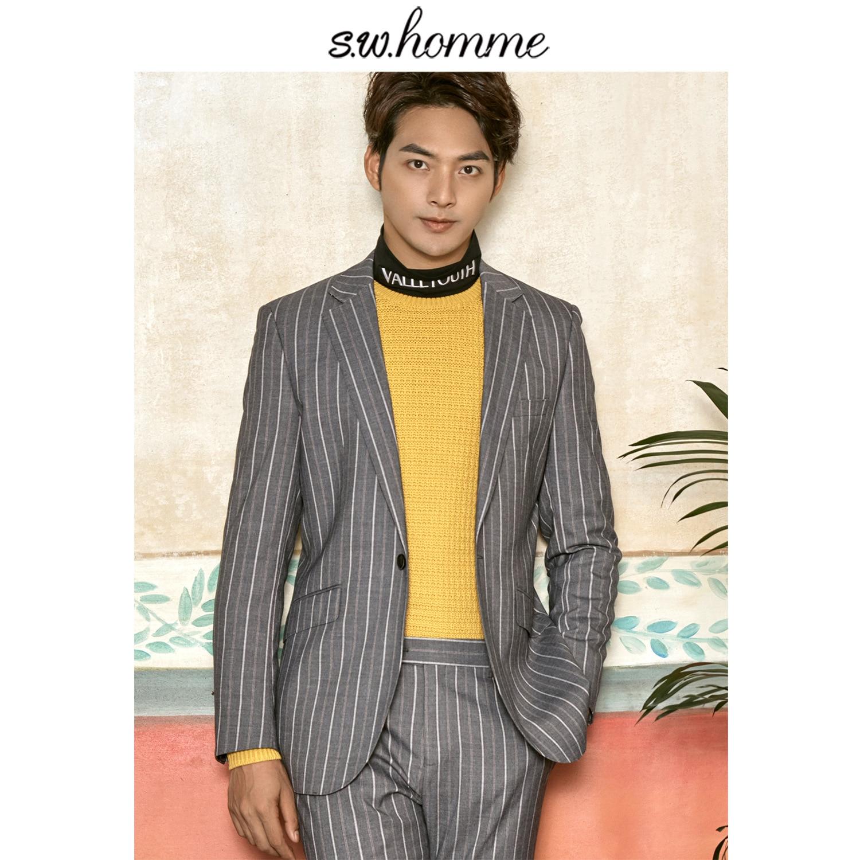 Tailor-made Suits Original Oscn7 2019 2 Colour Vertical Stripes Korea Customize Suits Slim Fit Leisure Tailor Made Mens Suit Ds-wt-0318-205 Ds-wt-0318-206b