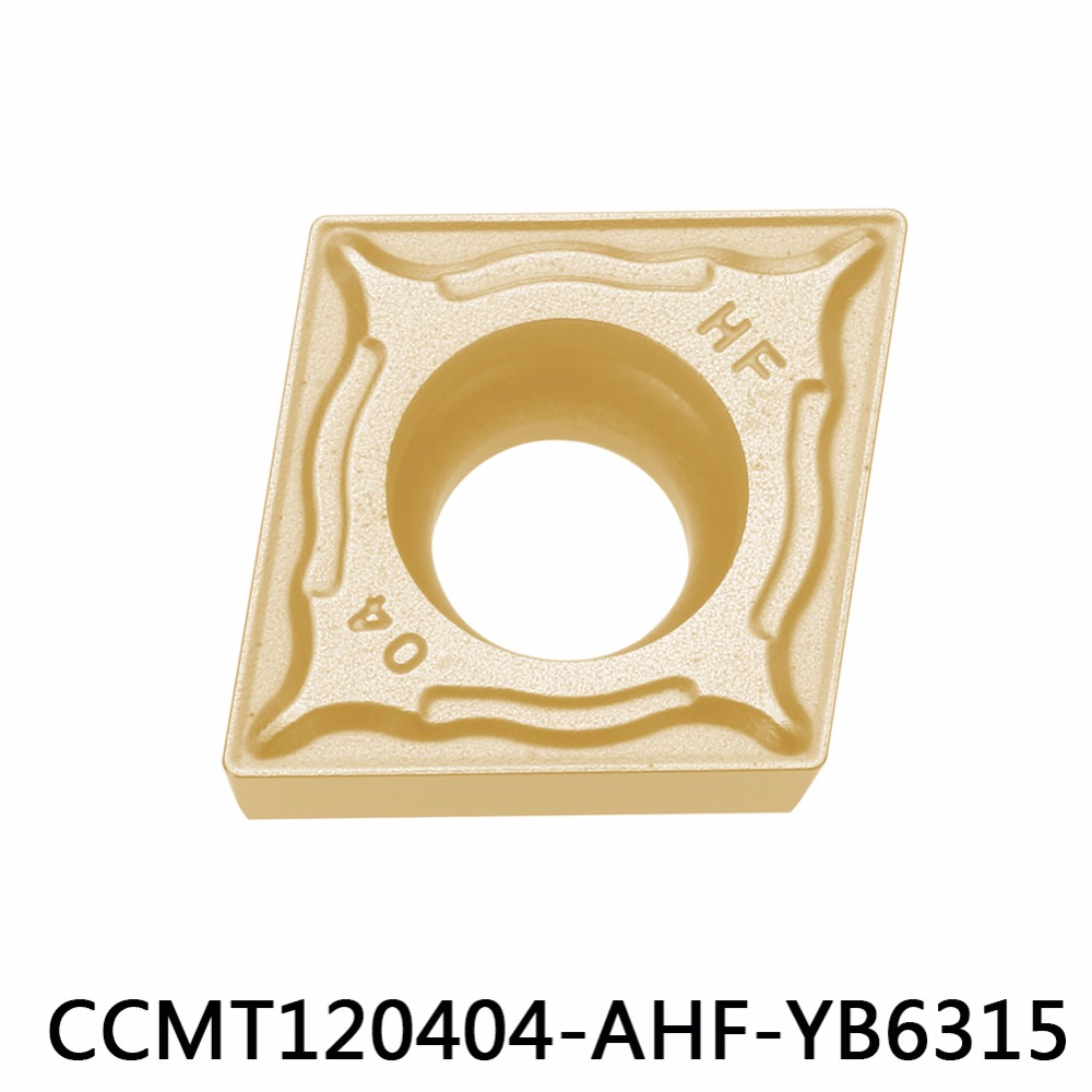 CCMT120404 AHF YB6315 for P type material tungsten carbide turning insert CNC tool CCMT120404 CCMT 120404