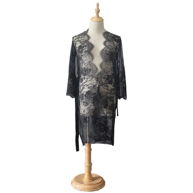 RQ Fashion Maternity Photography Props Cotton Maternity Clothes Lace pregnant Clothes Lace Crochet maternity dress Q20