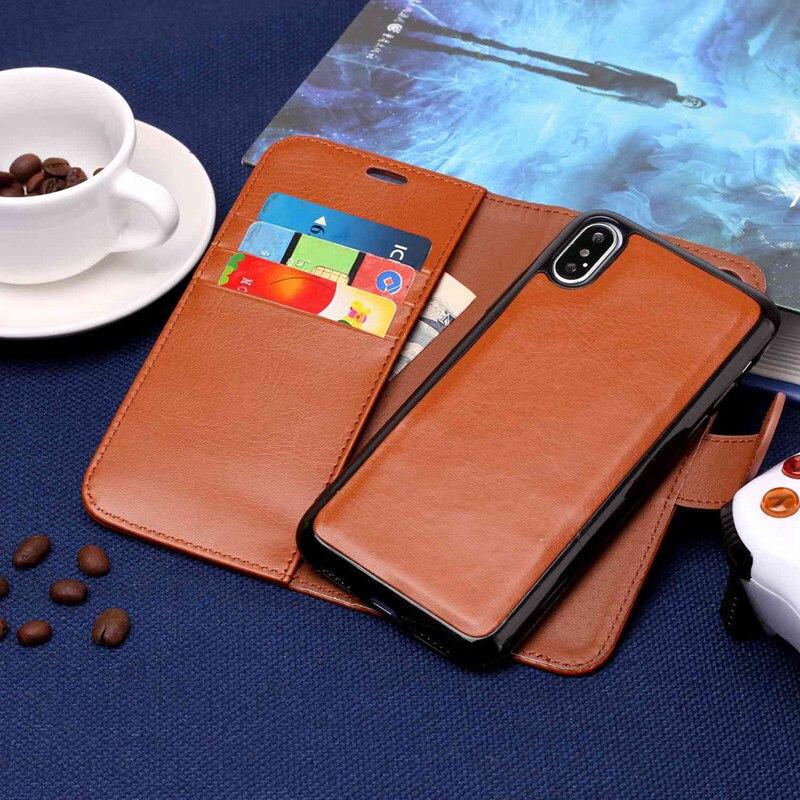 Misolocat для iPhone X флип чехол Роскошный кожаный бумажник Фолио Магнит Капа принципиально съемная