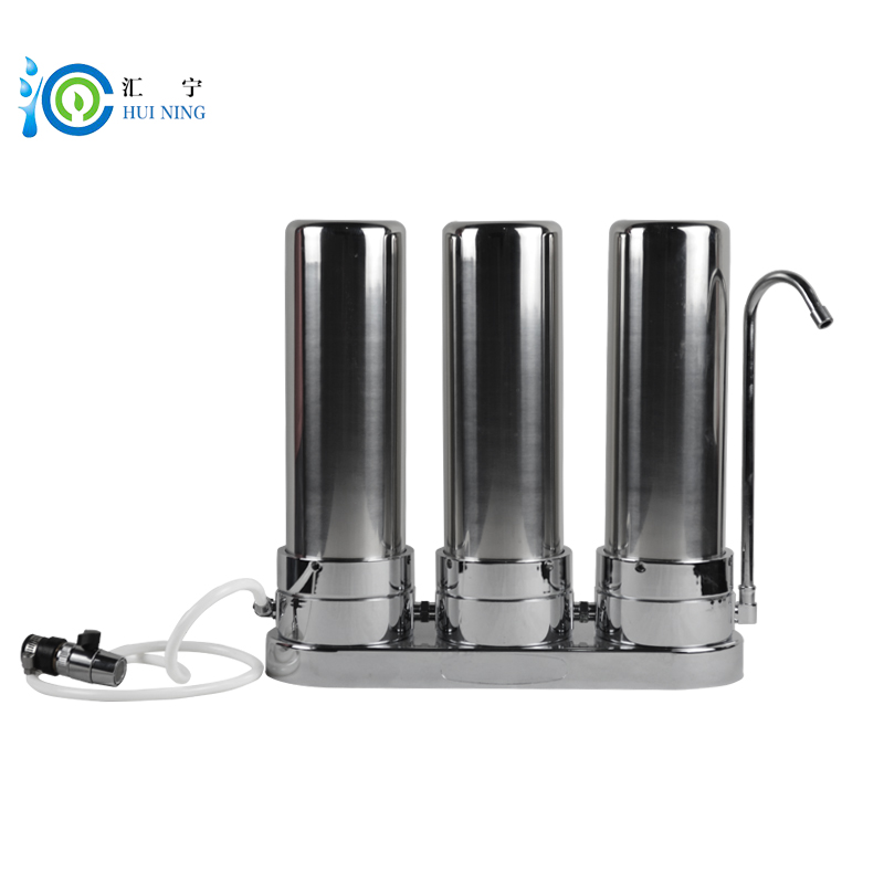 3 Stage Stainless Steel Water Purifier With Electricity PP Filter CTO UDF Water Filter for kitchen faucet