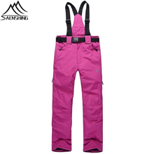 2016 Women Waterproof Windproof Ski Pants Winter Outdoor Snowboarding Pants Breathable Thicken Thermal Snow Trousers Sportswear