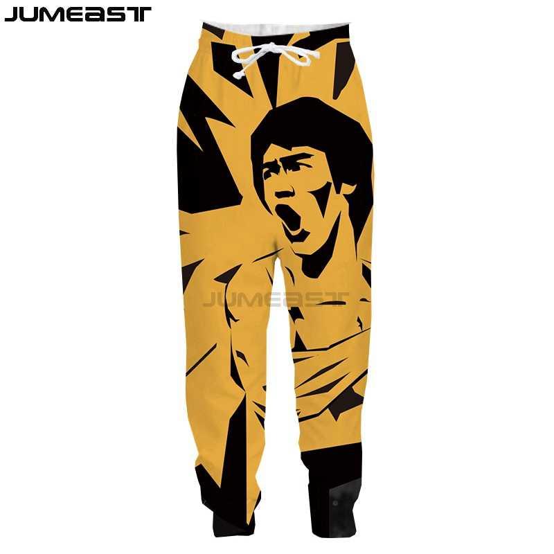 Jumeast Merk Mannen/Vrouwen 3D Gedrukt Kung Fu Superster Bruce Lee Casual Lange Broek Sport Trui Lengte Joggingbroek Broek
