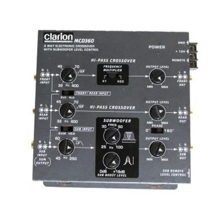 CLARION MCD360 3-Way Electronic Crossover