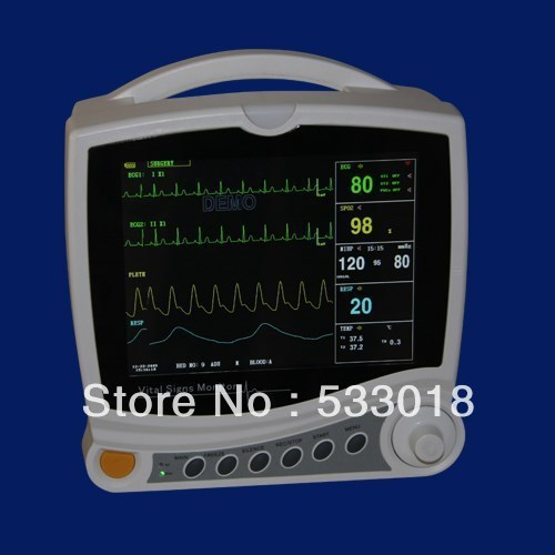 EMS Free ShippingNew ICU Patient Monitor ICU EG NIBP SPO2 Pulse Rate Three Years Warranty