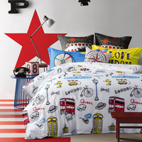 100 Cotton Full King Queen Size Comforter Bedding Sets Cool Life Duvet Cover Fitted Sheet Pillowcases