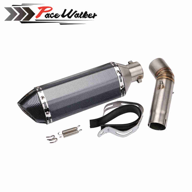 51mm exhaust Modified Scooter Exhaust Muffle GY6+Motorcycle exhaust coonecter middle pipe for suzuki GSXR600 K8 2008