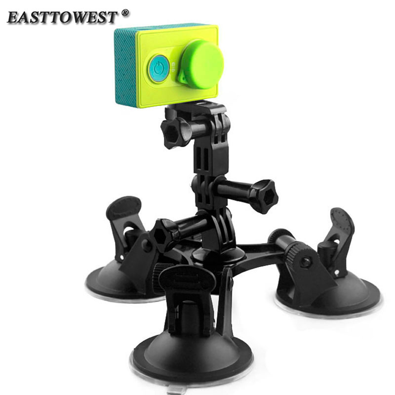 Easttowest Fat Gecko Stealth Mount Triple 5 7cm Feet Suction Cup for Xiaomi Yi Gopro Hero
