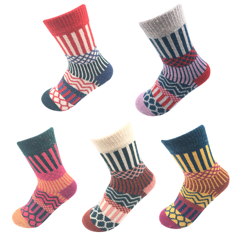5 pairs of socks New high quality winter color fashion ...