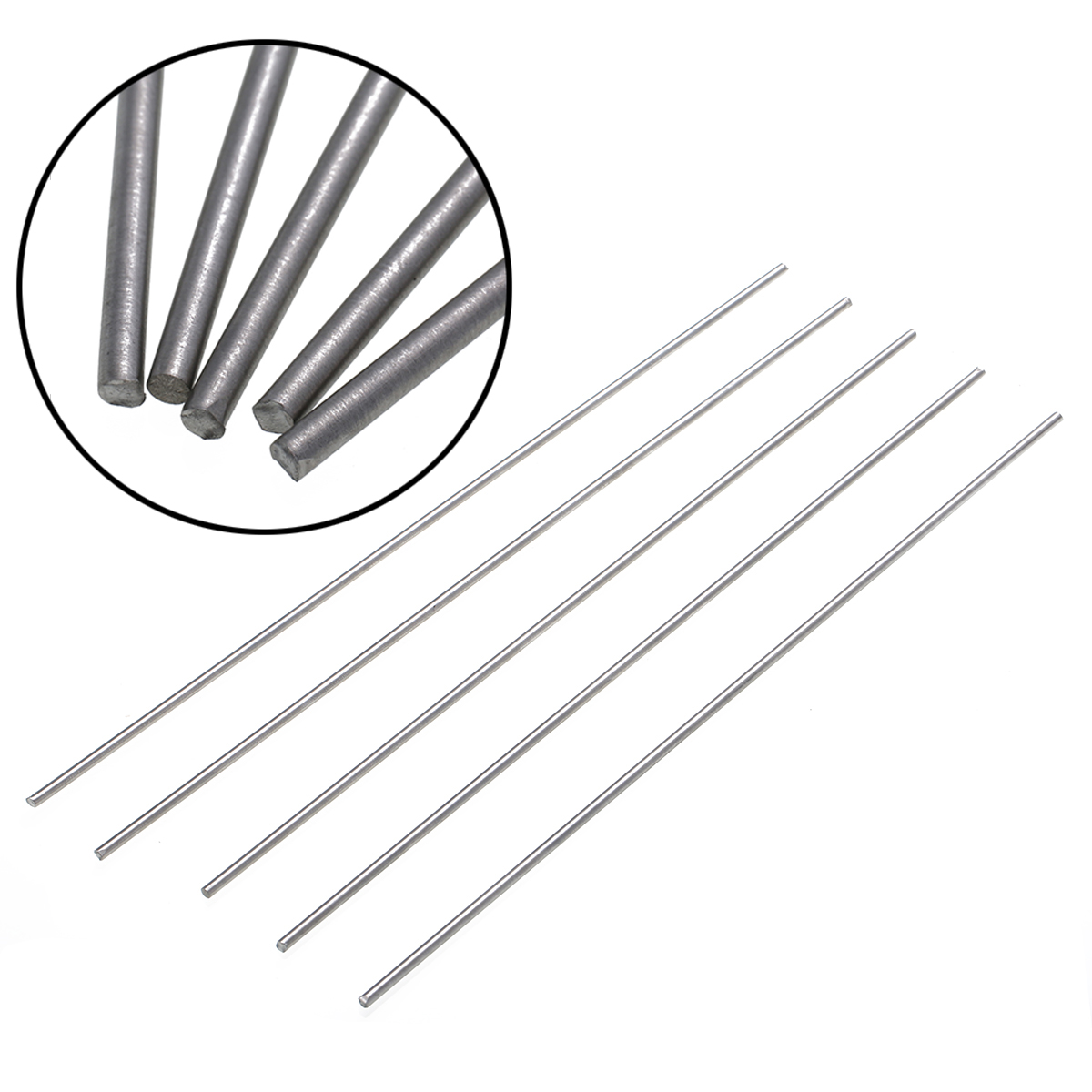 5pcs Titanium Ti Grade 5 GR5 Metal Rods Stick Bar Shaft 3mmx25cm with Corrosion Resistance qun ti xiang chaozhou feng huang dan cong oolong 100g 3 5 oz