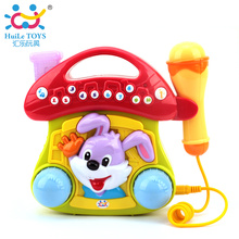 Free Shipping Baby Educational Toy Mushroom Jukebox with Light Musical Instrument Toy with Microphone Phone Children Musical Toy