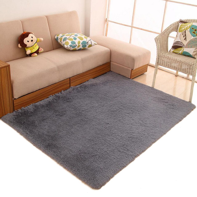 Shaggy Soft Table Sofa Carpet Big Home Decorative Living Room Table Floor  Mats Yoga Gym Baby