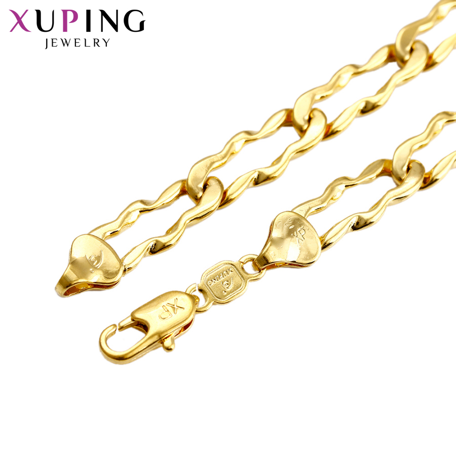 11.11 Deals Xuping Fashion Noble Necklace New Design Rope Chain Jewelry for Men Thanksgiving Gift S69-43620