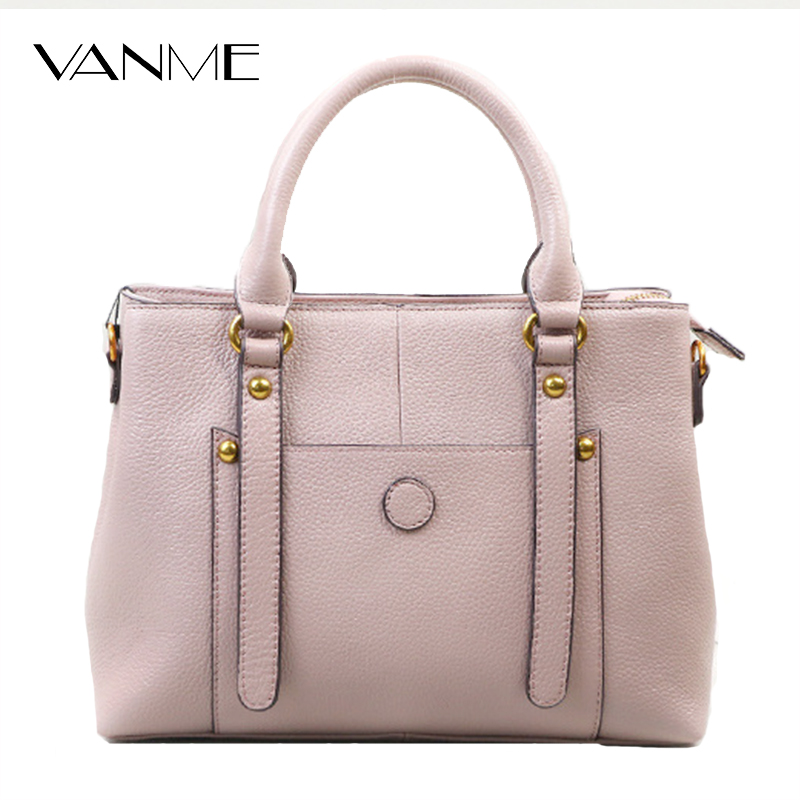 Fashion Casual Women Leather Handbag Genuine Leather Shoulder Bag Lady Crossbody Bags Tote Fashion Bolsa Handbag Office Lady Bag