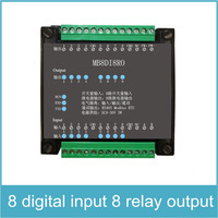 8 Channels Digital Input and 8 Channels Relay Output Isolated 8DI/8RO RS485 MODBUS Protocol Communication RS485 to Ethernet