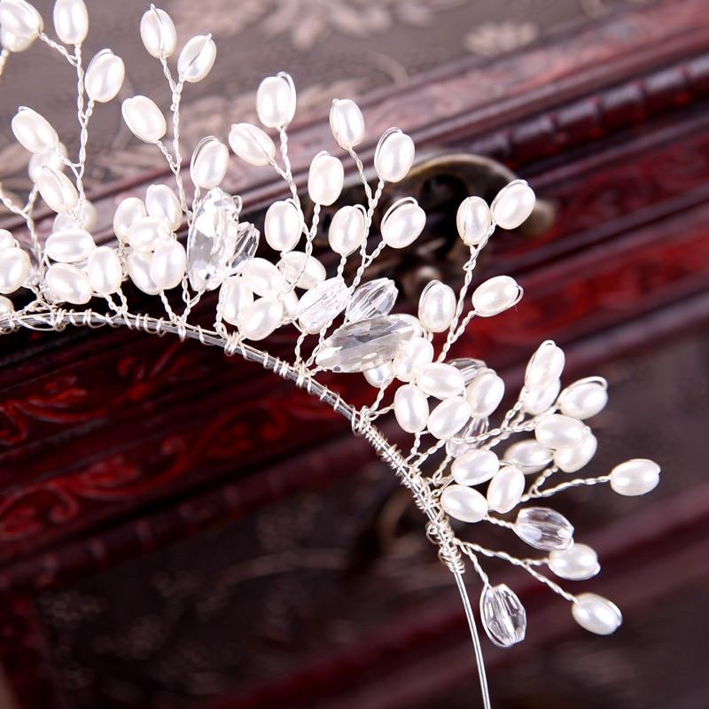 Haar Schmuck Österreich Kristall Stirnbänder Luxus Blumen Perlen Haarbänder Mädchen Grade Braut Strass Haarschmuck Headwear Mutter Geschenk