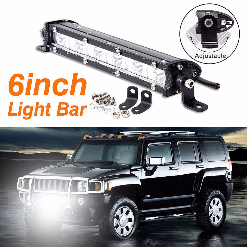 CYAN SOIL BAY Car LED Light 6inch 18W Bar Spot OFFROAD FOG DRIVING LAMP 4WD SUV ATV 1800LM 7inch 18w with cree chip led car work light bar 4wd spot fog atv suv driving lamp led bar for offroad tractor driving lamp