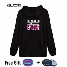 4c7d5c6bd6 KELUOXIN BTS Epilogue Na Scenie Młoda Zawsze Album Bangtan Chłopiec Zipper  Swetry Kobiety Odzież Polarowa Bluza