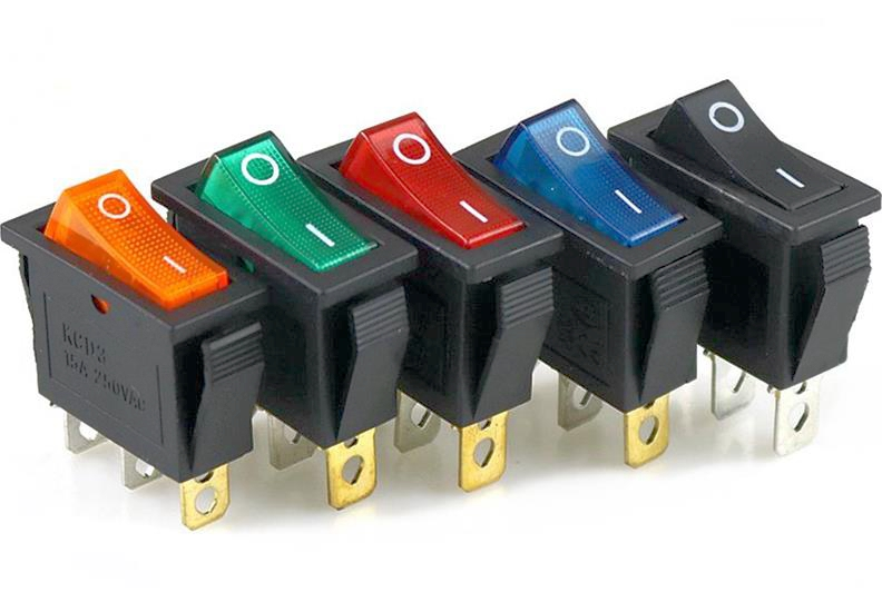 1pcs-kcd3-rocker-switch-15a-20a-125v-250v-3-pin-electrical-equipment-power-switch-red-yellow-blue-green-black