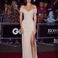 Glamour Hollywood Bella Roter Teppich Kleider Hohe Split Weg Von Der Schulter Liebsten Hohe Split Off The Shoulder Abendkleider