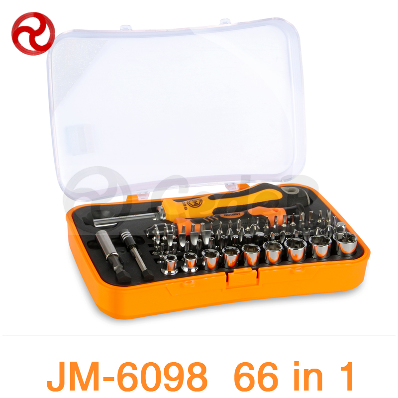 JAKEMY 66 in 1 Screwdriver Set Laptop Computer Electrical Home Furniture Auto Car Mechanic Repair Magnetic Adjustable Tools Kit 46pcs socket set 1 4 drive ratchet wrench spanner multifunctional combination household tool kit car repair tools set