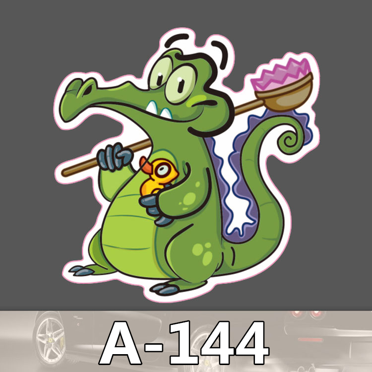 Bevle A-144 Crocodile Waterproof Fashion Cool DIY Stickers For Laptop Luggage Fridge Skateboard Car Graffiti Cartoon Stickers
