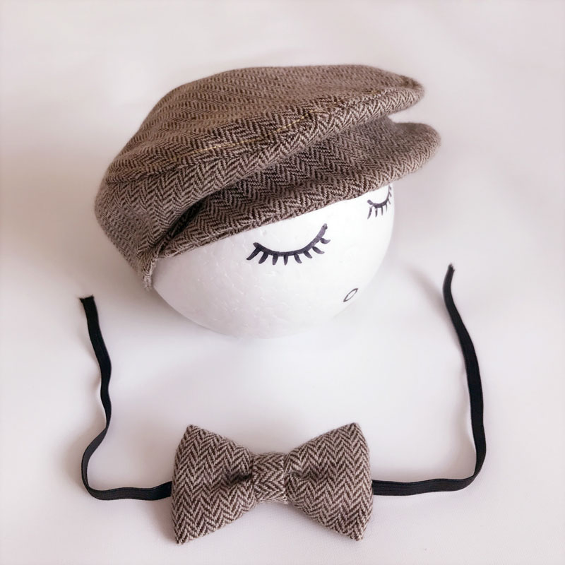 Crochet Baby Boy Gentleman Cap Bow Tie Set Տրիկոտաժե - Հագուստ նորածինների համար - Լուսանկար 6