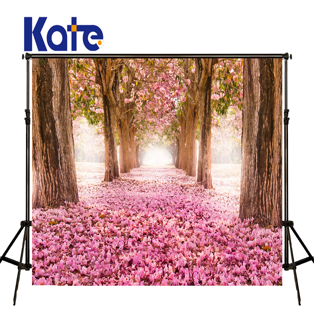 KATE Photo Background Spring Scenery Backdrop Pink Forest Photography Backdrops Naturism Children Photos Floral Wedding Photos kate flower wall pink backdrop romantic wedding photography backdrops spring photography backdrops large size seamless p
