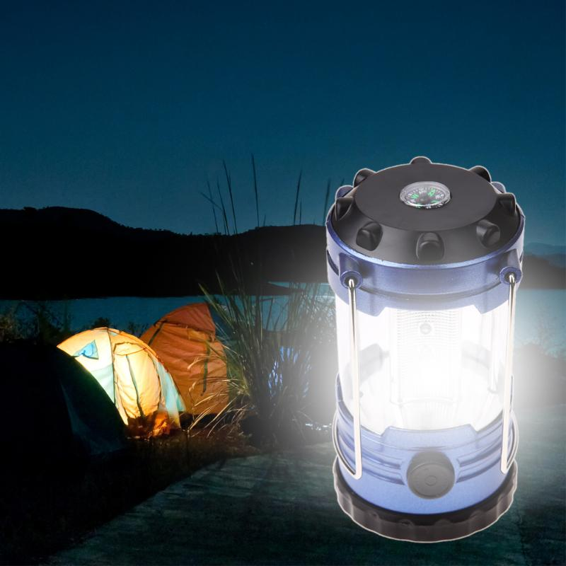 12-LED Camping Tent Lantern Lamp With Compass Adjustable Outdoor LED Hanging Light Hiking Emergency Lamp Survial Tool