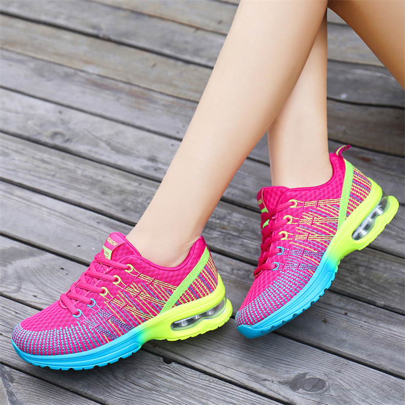 ZHENZU Sport Shoes Woman Sneakers Women Female Running Shoes Breathable Hollow Lace-Up chaussure femme High Quality1
