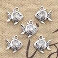 8pcs Charms double sided fish goldfish 14*15mm Antique pendant fit Vintage Tibetan Silver DIY bracelet necklace