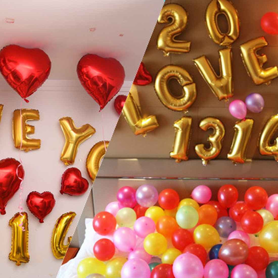 1pcs Cute Letters Number Foil Balloons Happy Birthday Party Wedding Ballon
