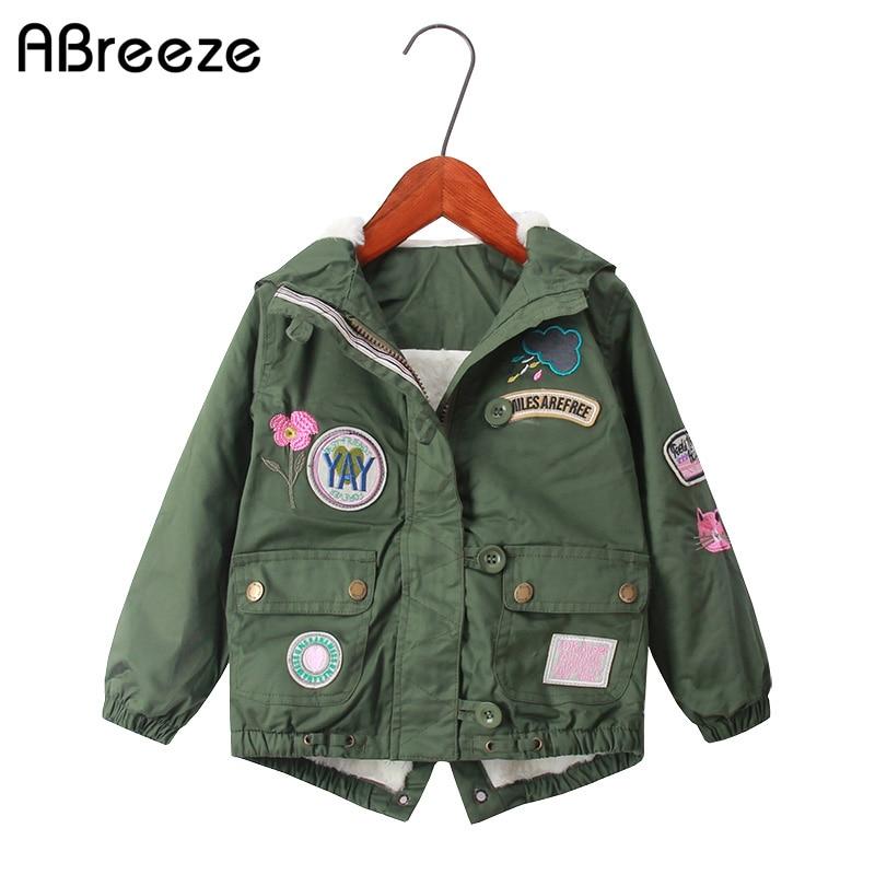 Abreeze 2019 ילדים בחורף מעילים ומעילים סגנון אירופי ילדים בנות למטה / מעילים חדשים 2T 8T מעילים חורף חם עבור בנות
