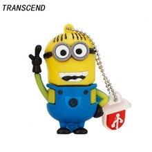 Transcend Герой мультфильма серии USB флеш-накопитель USB2.0 4 ГБ 8 ГБ 16 ГБ 32 ГБ 64 ГБ большая емкость цепочка для ключей Личная память рукоять