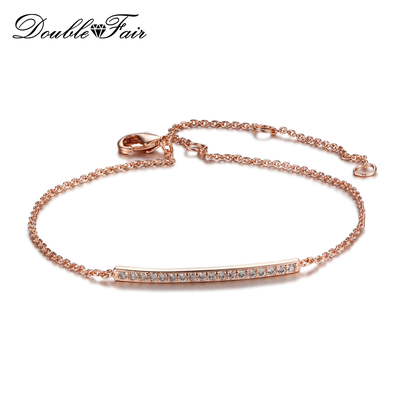 diamond bracelet solid products r bar top gold dv rose solitaire