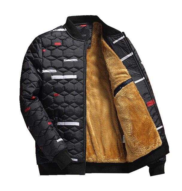 cc66206fa5b Fleece lining jackets for Men Camouflage Pattern Thicken Winter Coats Padded  Warm Jacket Parkas Big Plus Size M-4XL Outwear 523