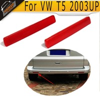 1 Pair T5 ABS Red Rear Bumper Reflector Lamps Lights Covers For VW T5 2003UP