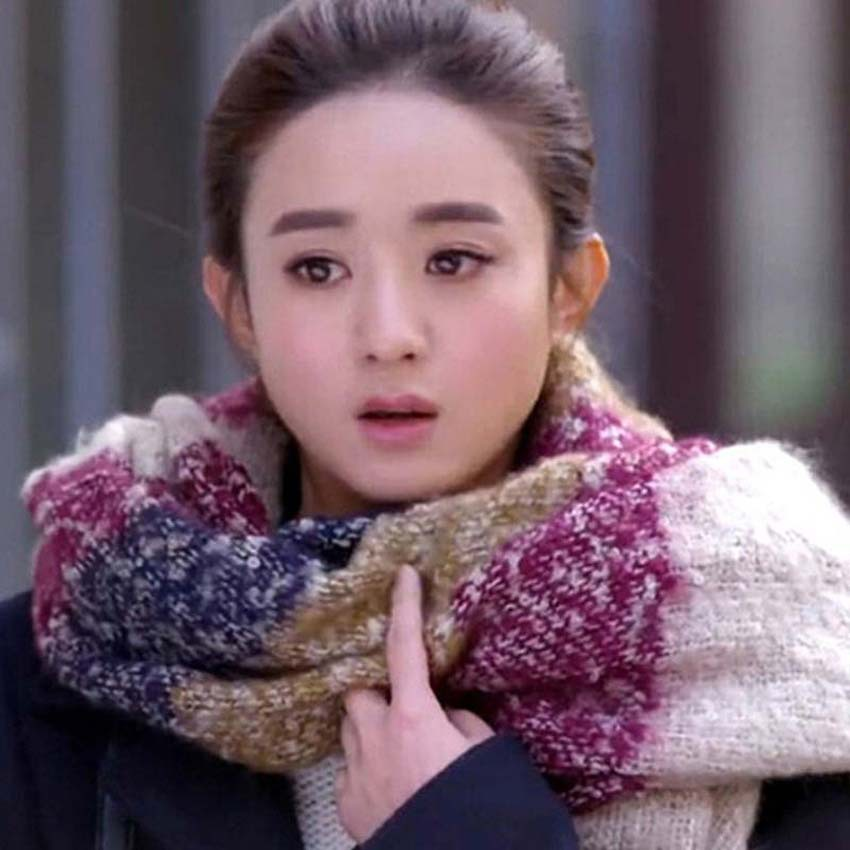 Women winter Warm   scarves   Fashion colour Long Pashmina Classic Striped Stole Tassels mohair Wool   Scarf   Shawl   Wrap   WJ04