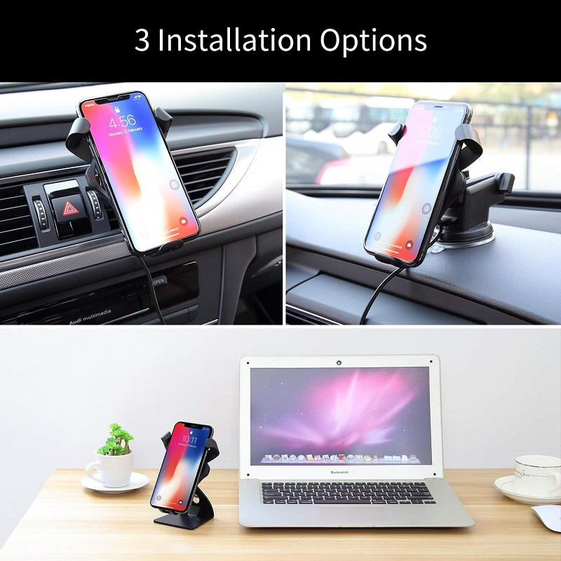 Image 2 - Car Wireless Charger 3 in 1 Wireless Car phone holder Cell Home Fast Charge Wireless Charging Stand For iphone X 8 XS XR Samsung-in Wireless Chargers from Cellphones & Telecommunications