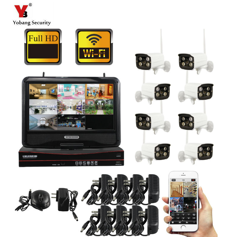 Yobang Security Cctv-systeem 8CH 960P CCTV Security System 1.3MP POE IP Camera P2P Video Surveillance Set image